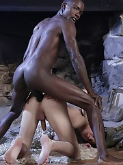 Monster Cocks: Cute white twink gets a humiliating fuck & facial from a big black dick